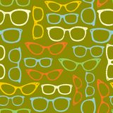 Seamless pattern with eyeglasses. Royalty Free Stock Photos
