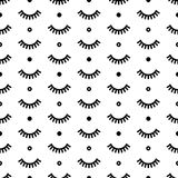 Seamless pattern with eyelashes. Cute lashes. Vector illustration for your design. White background Royalty Free Stock Image