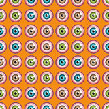 Seamless pattern with eyes Royalty Free Stock Photos