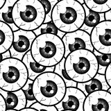Seamless Pattern Eyes. Seamless Pattern With Monochrome Eyes Royalty Free Stock Photography