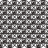 Seamless pattern with eyes Stock Images