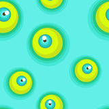 Seamless pattern with eyes. Royalty Free Stock Images
