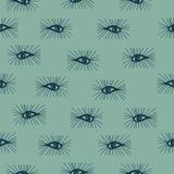 Seamless pattern eyes hand drawn Stock Photos