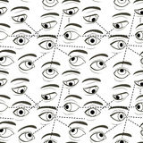 Seamless Pattern with Eyes Royalty Free Stock Image