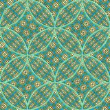 Seamless pattern on a fabric. Geometrical figures. Good for replicate Stock Photography