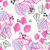 Seamless pattern for fabric textile design in trendy colors 2016, pink and blue. Vector illustration for wrapping paper. Design, scrapbooking, wedding cards and Stock Image