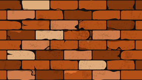Seamless pattern of a face brick wall Royalty Free Stock Photo