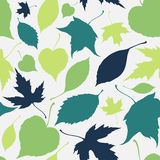 Seamless pattern with falling leaves. Autumn Royalty Free Stock Image