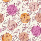 Seamless pattern with falling leaves Royalty Free Stock Photos