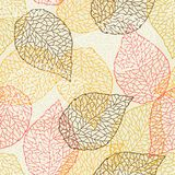 Seamless pattern with falling leaves. Natural illustration of autumn foliage Royalty Free Stock Photography