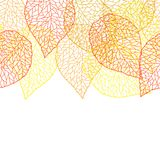 Seamless pattern with falling leaves. Natural illustration of autumn foliage Stock Image