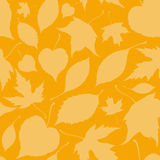 Seamless pattern with falling leaves Stock Photos