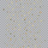 Seamless pattern with falling shiny fold confetti. Vector.  Stock Photos