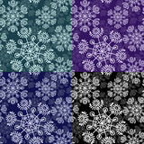 Seamless pattern with falling snowflakes Royalty Free Stock Photos