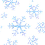 Seamless pattern with falling snowflakes vector illustration
