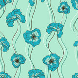Seamless pattern of fancy flowers Royalty Free Stock Photos