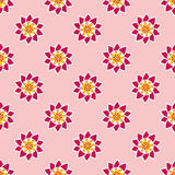 Seamless pattern with fancy pink flowers. Stock Photos