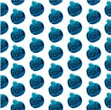 Seamless pattern with cute cartoon fantasy fruits and berries Royalty Free Stock Photography