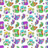 Seamless pattern with fantastic things Stock Photo