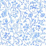 Abstract floral seamless pattern Royalty Free Stock Photos