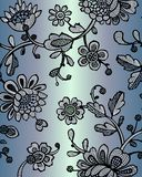 Seamless pattern with fantasy flowers. Vector abstract seamless floral pattern. Lase pattern. Template can be used for wallpaper, royalty free illustration