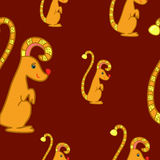 Seamless pattern with fantasy gopher Royalty Free Stock Image