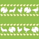 Seamless pattern with farm birds Stock Image