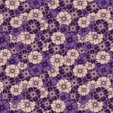 Seamless pattern lilac bouquet of flowers vector illustration royalty free illustration