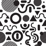 Seamless pattern fashion  black and white Stock Images