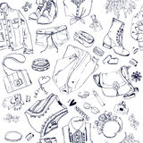 Seamless pattern with fashion goods Royalty Free Stock Photos