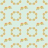 Seamless pattern fashion rainbow modest sunglasses. Seamless pattern fashion rainbow modest vector sunglasses in blue background Royalty Free Illustration