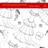 Seamless pattern. Fashion set.      illustration in hand drawing style. Stock Photography
