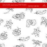 Seamless pattern. Fashion set. illustration in hand drawing style. Seamless pattern. Fashion set brooches. Illustration in hand drawing style royalty free illustration