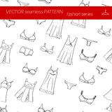 Seamless pattern. Fashion set.      illustration in hand drawing style. Stock Image
