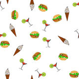 Seamless pattern. - Fast food. Vector Stock Images