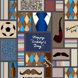 Seamless pattern of fathers day. royalty free illustration