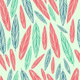 Seamless pattern with feather Royalty Free Stock Photos