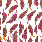 Seamless pattern feathers Royalty Free Stock Images