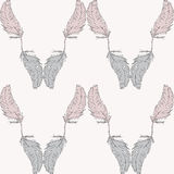 Seamless Pattern Of Feathers Stock Image