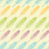 Seamless pattern with feathers. Stock Photography