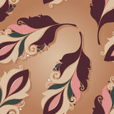 Seamless Pattern with Feathers Royalty Free Stock Photography