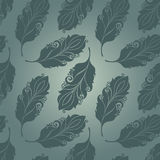 Seamless Pattern with Feathers Stock Photos
