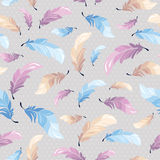 Seamless pattern with feathers Royalty Free Stock Images