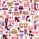 Seamless pattern with female icons Stock Photo