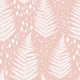 Seamless pattern with fern leaves Royalty Free Stock Image