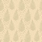 Seamless pattern with fern leaves Stock Photography