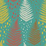 Seamless pattern with fern leaves Stock Image