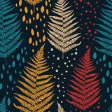 Seamless pattern with fern leaves Stock Photo