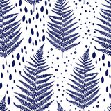 Seamless pattern with fern leaves Stock Photos