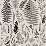 Seamless pattern. Ferns. Royalty Free Stock Image